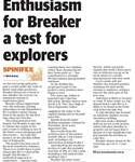 Enthusiasm for Breaker a test for explorers