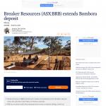 Breaker Resources extends Bombora Deposit